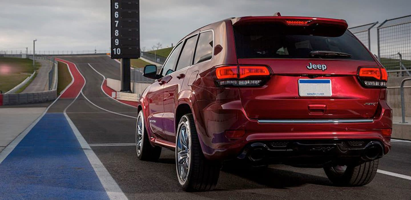 Jeep Grand Cherokee SRT Cherry Red Back View