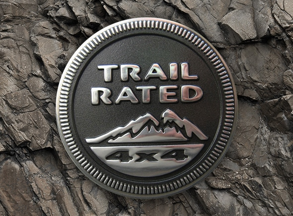 Jeep Compass Trail Hawk Trail Rated badge