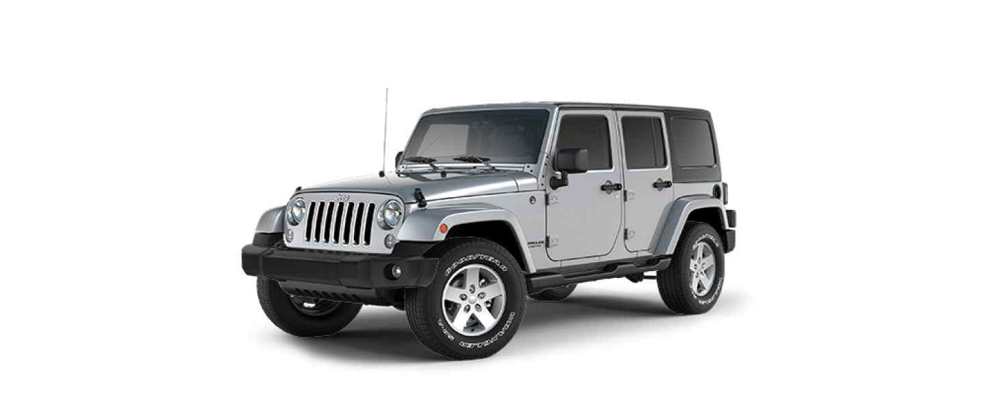 Jeep Wrangler Unlimited Billet Silver Metallic Hard Top Full Doors
