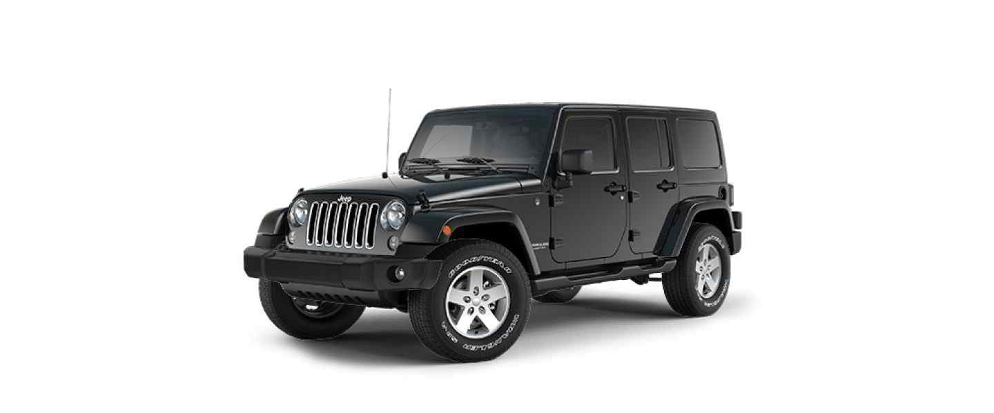 Jeep Wrangler Unlimited Black Hard Top Full Doors