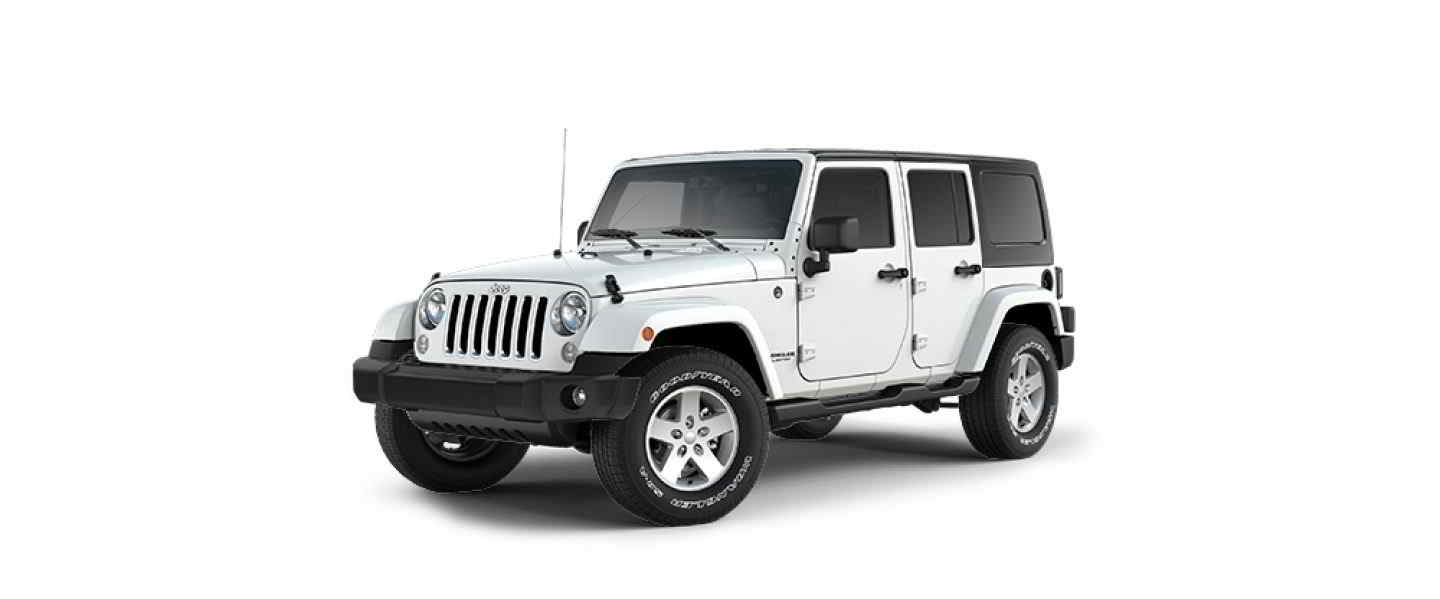 Jeep Wrangler Unlimited Bright White Hard Top Full Doors